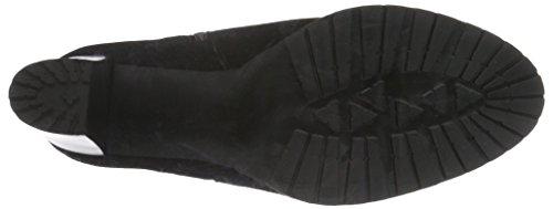Mentor Ankle Plato Boot, Zapatillas De Estar por Casa para Mujer Negro