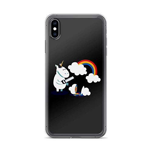 iPhone Xs Max Pure Clear Case Cases Cover Crazy Doodle Unicorn