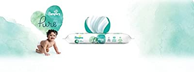 Pampers Aqua Pure 8 Pop-Top Packs Sensitive Water Baby Wipes, Hypoallergenic and Unscented, 448 Count