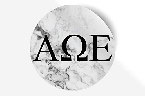 (Alpha Omega Epsilon Sticker Greek Sorority Decal for Car, Laptop, Windows, Officially Licensed Product, Monogram Design 5