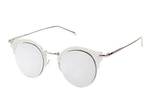 sol de Silver a Silver C5 Disparos mano de mujer sol Koyi callejeros Gafas talladas frame MAIDIS Gafas Moda Aaxq6zwt