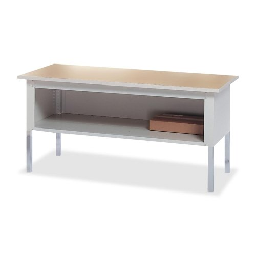 Mayline Mailroom System - Kwik-File Mayline TB60PG Mailflow-To-Go Mailroom System Table, 60w x 30d x 36h, Pebble Gray