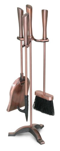 Copper Hearth (Pilgrim Home and Hearth 19033 Napa Forge Chandler Tool Set, Antique Copper)