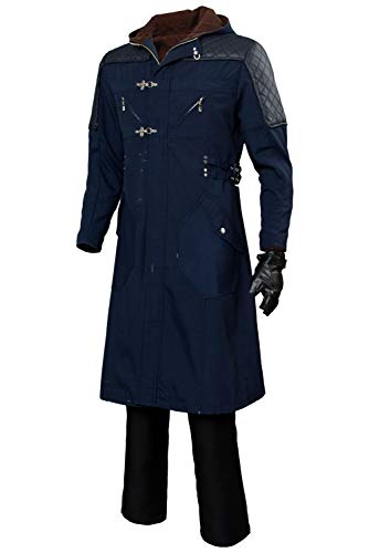 Mutrade Nero Long Casual Coat Devil May Cry V Cosplay Costume Hoodie Outwear(Not Including Pants)