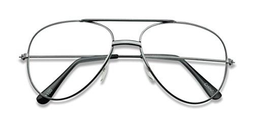 Classic Retro Optical Metal Aviator Reading Glasses Rx Strength +1.0 Thru +2.50 Spring Hinges Pilot Style (Gun Metal, - Asian Fit Aviators