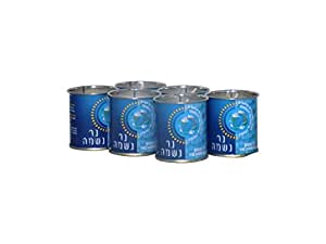 24 Hour Yartzeit Memorial Candle in Tins (6 Pack)- White Perffin Wax Candle Burning Time Aprox. 1 Day