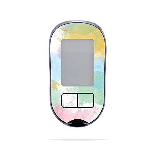 MightySkins Skin Compatible with Accu-Chek Aviva Plus - Watercolor White   Protective, Durable, and Unique Vinyl Decal wrap Cover   Easy to Apply, Remove, and Change Styles   Made in The USA