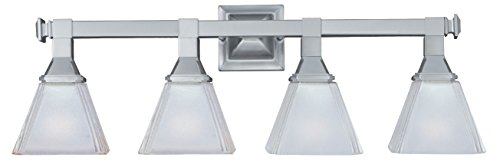 Maxim Lighting 11079FTSN Four Light Frosted Glass Vanity, Satin Nickel