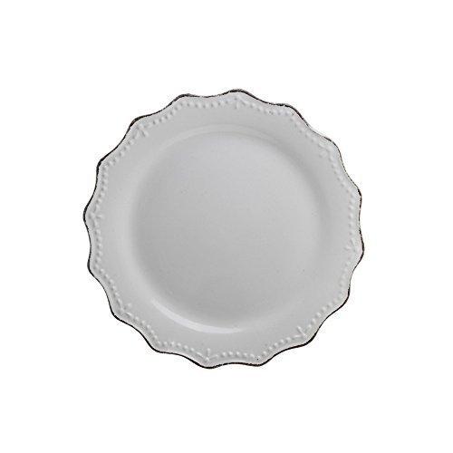 10 Strawberry Street OXFRD-4-6 Oxford Salad Plate, Set of 6, 8.3, White by 10 Strawberry - Stores Street Oxford