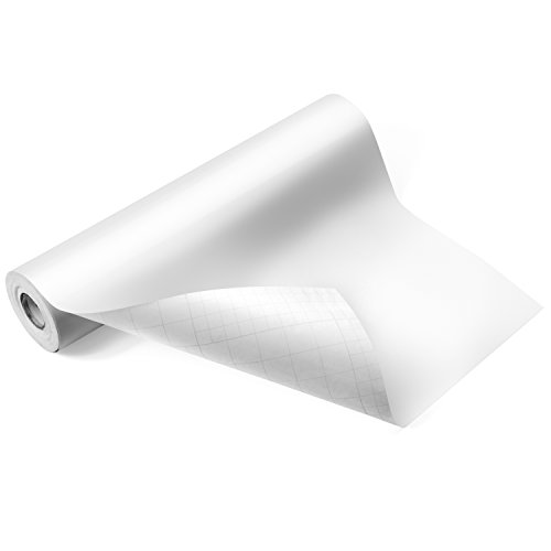"Glossy White Adhesive Vinyl Roll – HUGE Glossy Adhesive Permanent White Vinyl Rolls – 12""x40FT White Vinyl Sheets are The BEST Vynil – EZ Craft USA White Vinyl Wrap Works ()"