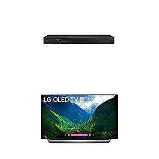 """LG UBK90 4K Ultra-HD Blu-ray Player with Dolby Vision (2018) and Alexa Built-in C9 Series 55"""" 4K Ultra HD Smart OLED TV (2019) (B07PBXMXQJ) 