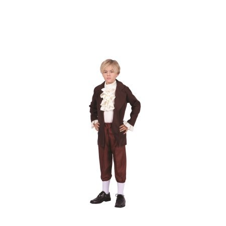 Thomas Jefferson-Child Costume (Child, Brown and Beige)