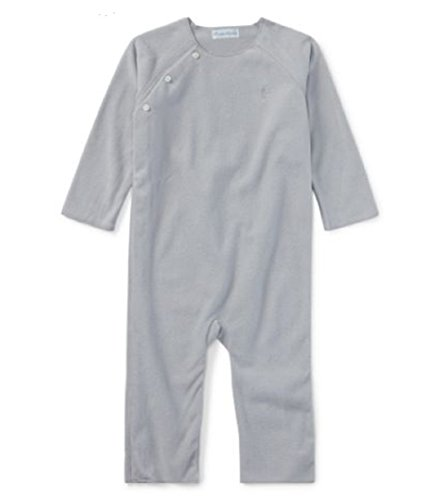 - Ralph Lauren Baby Boys' Fleece Coverall (NB, Grey Heather)