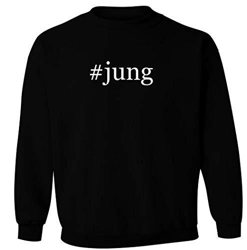 #jung - Men's Hashtag Pullover Crewneck Sweatshirt, Black, XX-Large