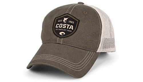 Costa Del Mar HA25m Shield Trucker Hat with Snap Closure, ()