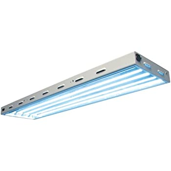 Amazon.com : 4 ft. - 4 Lamp - F54T5-HO - Fluorescent Grow Light ...