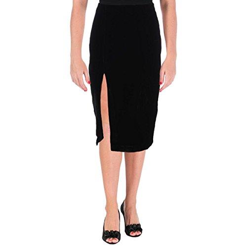 ns Silk Blend Velvet Pencil Skirt Black S (Rayon Velvet Skirt)