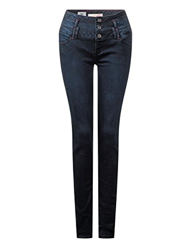 Mujer Ajustados Vaqueros Street Denim One Hw Overdye dark Para Slimleg Slimfit 11103 Blau Blue yoko x0zRnx