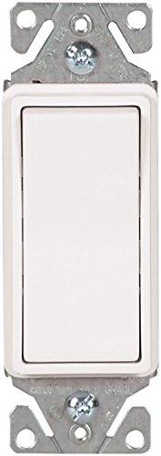 Combo Rocker Single (EATON 7511W 15 Amp 120/277V Heavy-Duty Grade Single-Pole Decorator Lighted Switch with Back & Push Wire, White)