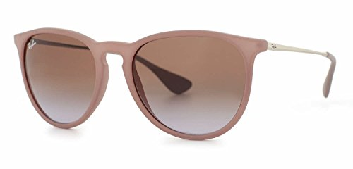 Ray Ban Erika Sunglasses Rubber Sand / Brown - Ray Ban Brown Erika