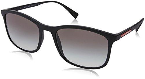 Prada Sport PS01TS DG00A7 Black Rubber PS01TS Rectangle Sunglasses Lens Categor - Prada Rectangle Sunglasses