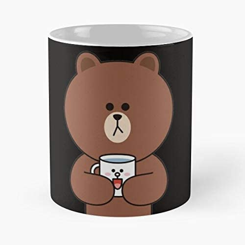 Cute Brown Bear And Cony Classic Mug Item Use Daily Otisioope. 11 Oz Coffee Mugs Ceramic The Best Gift For Holidays