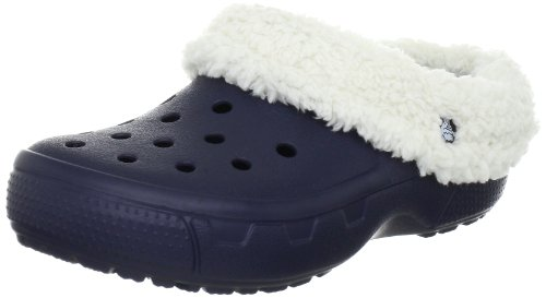 - Crocs Unisex Mammoth EVO Lined Clog,Navy/Oatmeal,4 M US