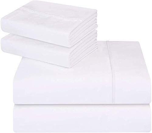 Utopia Bedding 4-Piece Full Bed Sheets Set (White) ()