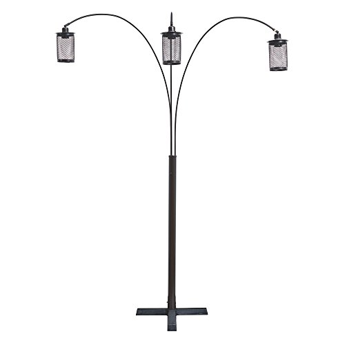 (Ashley Furniture Signature Design - Maovesa Metal Arc Lamp -Mesh Shades - Bronze)