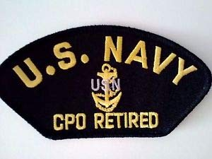 U.S. Navy Chief Petty Officer CPO Retired Patch Sewn Or Iron On by HighQ Store
