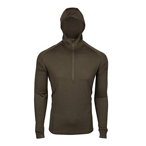 7EVEN Clothing Co Mens 100/% Lightweight Merino Wool Long Sleeve Shirt 190 GSM