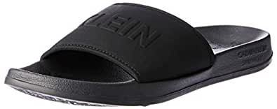 Calvin Klein Women's Cruise Lifestyle Slide Sandals, Black (PVH Black), 11 US
