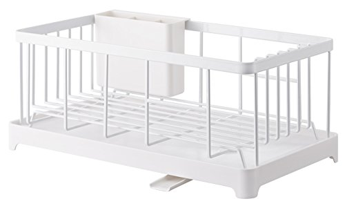- YAMAZAKI home Tower Wire Dish Drainer Rack, White