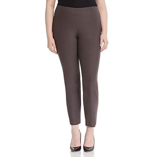 Fisher Slim Eileen Pants - Eileen Fisher Womens Plus Slim Crepe Ankle Pants Taupe 1X