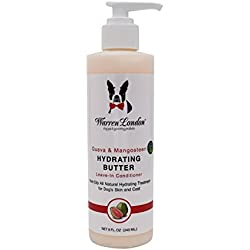 Warren London - Hydrating Butter and Leave-in Conditioner for Dogs Skin and Coat, Guava and Mangosteen - 8 Fl. Oz