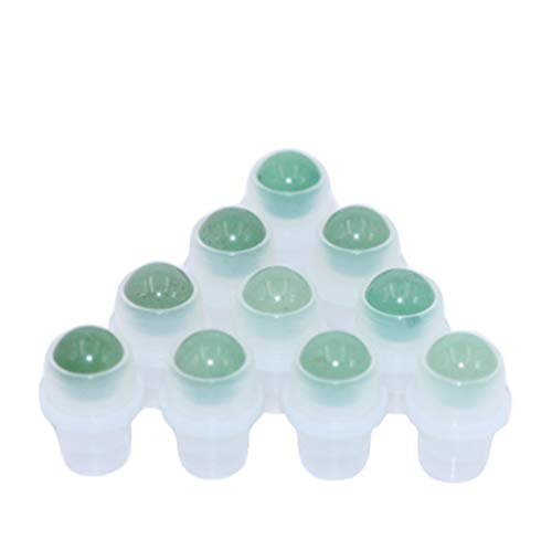 - Furnido 10 Pack Natural Crystal Stones Roller Balls For Essential Oils,Use of Standard 5ml 10ml Replacement Rollers Balls,Essential Oil Roller Polished Gemstone With Plastic Insert,Green Aventurine