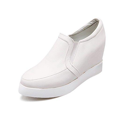 Balamasa Flickor Pekade Tå Pådrags Imiterade Läder Pumpar-skor Vit