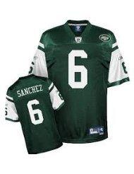 New York Jets NFL fútbol americano Jersey camiseta - Sánchez #6 - Mens NWT Wallfillers