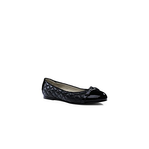 Canvas by Lands' End Women's Quilted Ballet Flats, 11, Black