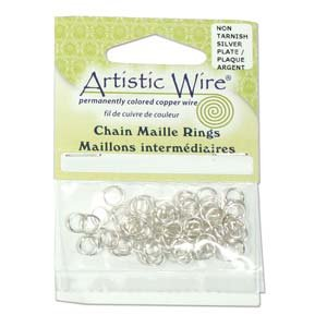 Artistic Wire Chain Maille Jump Rings Non Tarnish Silver ...