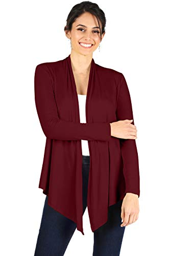 Simlu Open Front Cardigan Reg and Plus Size Lightweight Cardigans for Women Long Sleeves