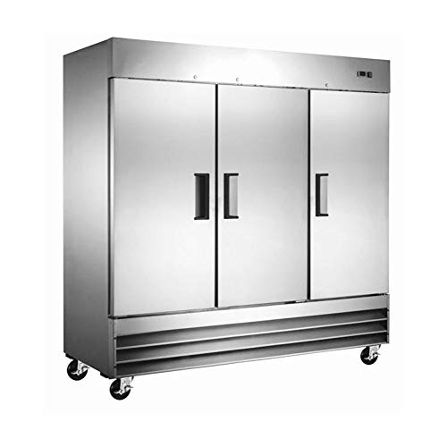 Price comparison product image 80 inch Solid Stainless Steel Door Reach-In Upright Refrigerator,  9 Shelves,  ETL certi