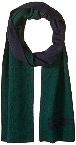 Lacoste Mens Mens Large Contrast Croc Jacquard Wool Scarf