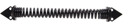 Hinges Group Gate Hillman (The Hillman Group 851368 12-Inch Self Closing Gate Spring, Black Finish)