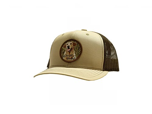Yellow Lab Hunting Dog Patch Trucker Hat   East Coast Waterfowl