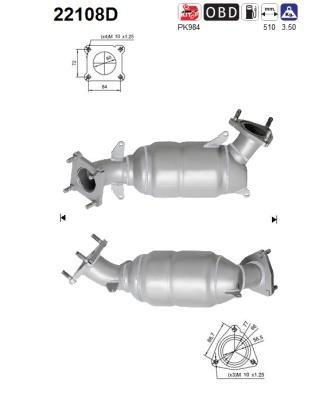 u.a f/ür Preishammer Honda Katalysator Katalysator Abgasanlage Hinten