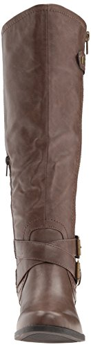 Boot Women's Rampage Hansel Wide Riding Brown Calf 4BfXgfnq
