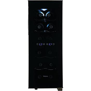 Amazon Com Haier 12 Bottle Dual Zone Curved Door With
