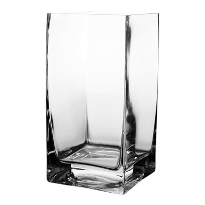 CYS Glass Square Vase (Pack of 12), 8