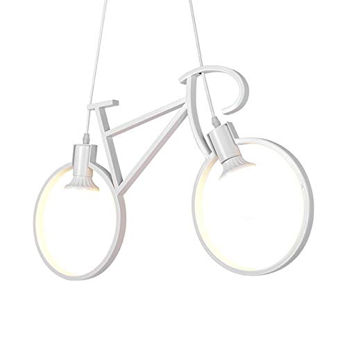 Kids Lighting Pendant (INJUICY Bicycle Shade Pendant Lights, Modern E27 Metal Iron Bike Ceiling Lamps Fixtures for Living, Dining & Children's Room, Restaurant, Clothing Store, Cafe, Shop, Hallway)